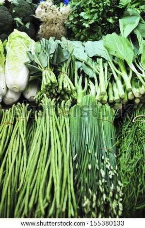 Fresh vegetables at market Thailand - stock photo