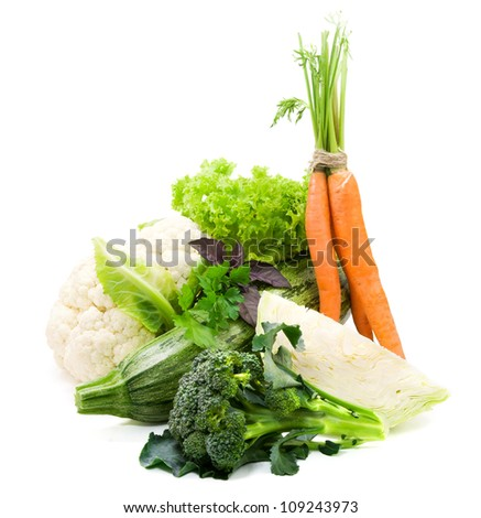 Fresh vegetables, healthy food - stock photo