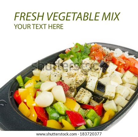 Fresh vegetables mix ready to be cooked - stock photo