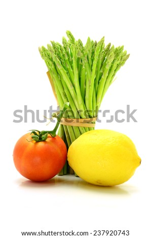 Fresh vegetables On a white background - stock photo