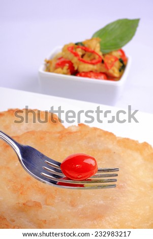 fresh Vegetables on the dish with isolate background - stock photo