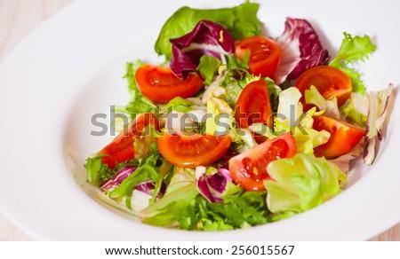 fresh vegetables salad - stock photo