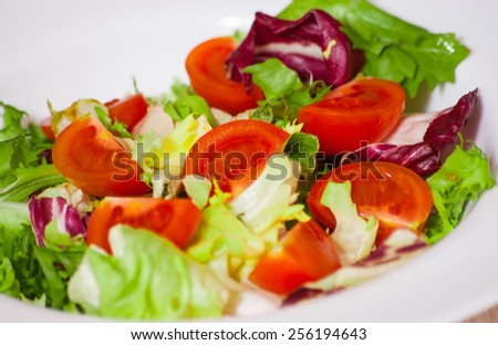 fresh vegetables salad - stock photo