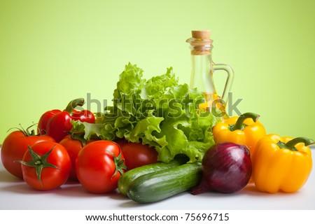 fresh vegetables still life - stock photo