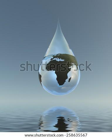 Fresh Water Africa - stock photo
