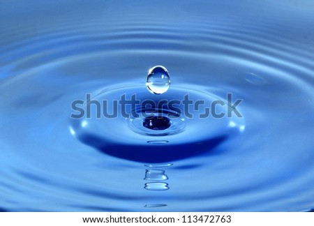 fresh water droplet - stock photo