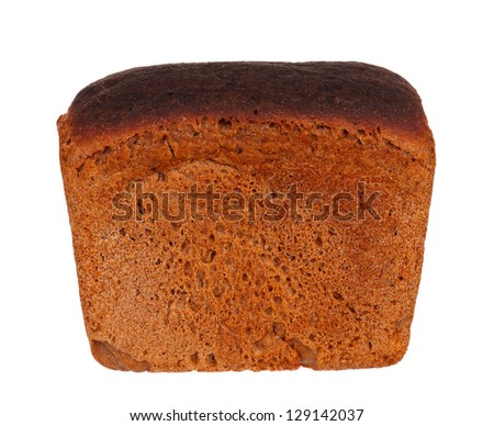 Fresh whole rye bread isolated on a white background - stock photo