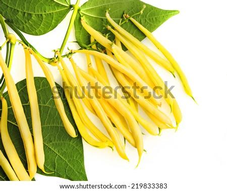 fresh yellow beans  - stock photo