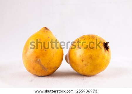 Fresh Yellow Ripe Maracuya Tropical Passion Fruit - stock photo
