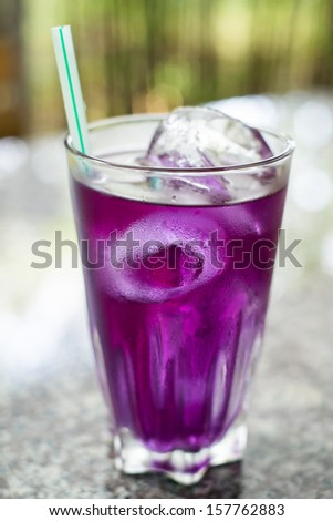 freshing drink in glass - stock photo