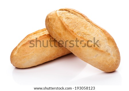 Freshly baked bread rolls - stock photo