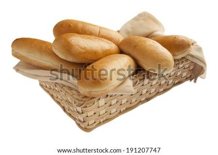 Freshly baked hot dog buns - stock photo