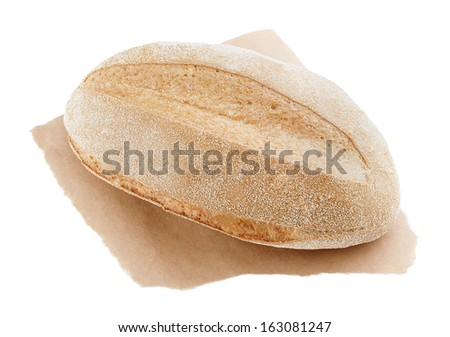 freshly baked loaf of cornbread on a white background - stock photo