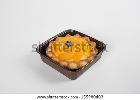 Freshly Baked Peach Tart - stock photo