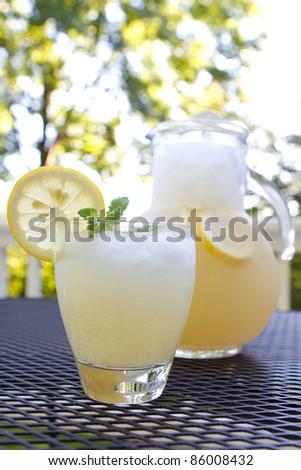 Freshly made lemonade - stock photo