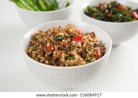 Freshly Made Quinoa Tabouli  - stock photo