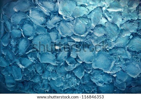 freshness blue ice cube texture - stock photo