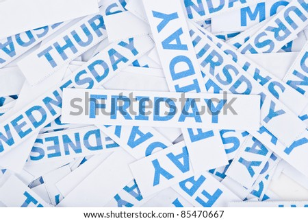 Friday word texture background. - stock photo