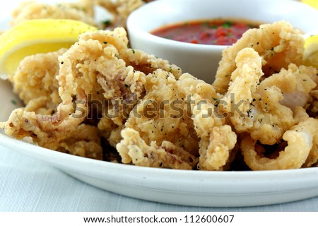 Fried Calamari With Chipotle Citrus Sauce Recipe — Dishmaps