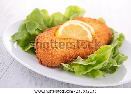 fried chicken in batter - stock photo
