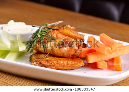 Fried chicken legs - stock photo