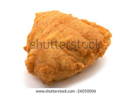 fried chicken meat isolated on white background - stock photo