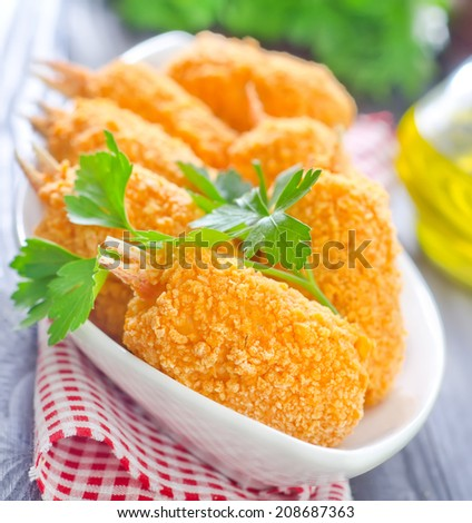 Fried crab claws - stock photo