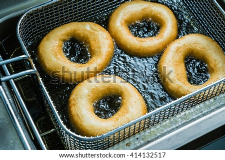 fried donuts - stock photo
