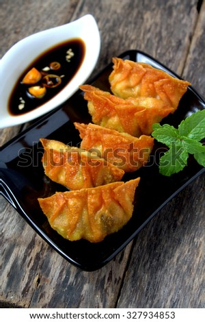 Fried Dumplings - stock photo
