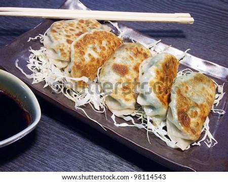 Fried Dumplings - stock photo