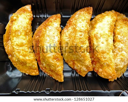 Fried Dumplings Chinese Style - stock photo