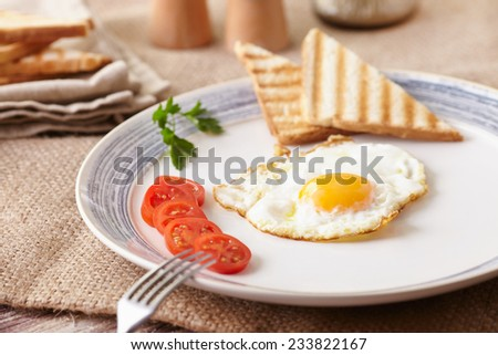 fried egg - stock photo