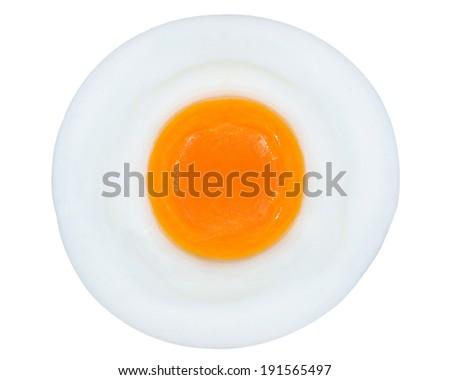 fried egg isolated on white - stock photo