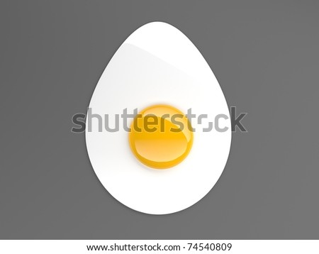 fried egg shape - stock photo