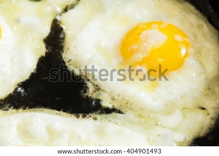 fried eggs sunny side up  - stock photo