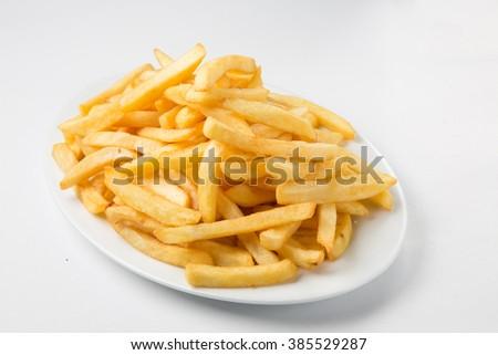 fried french potatoes   - stock photo