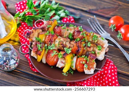 fried kebab - stock photo
