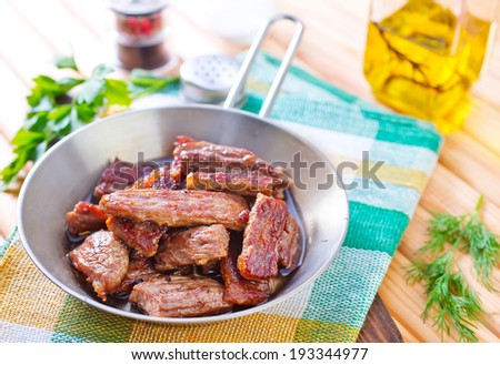 fried meat - stock photo