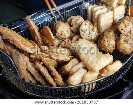 Fried patty  - A Popular Taiwanese food   - stock photo
