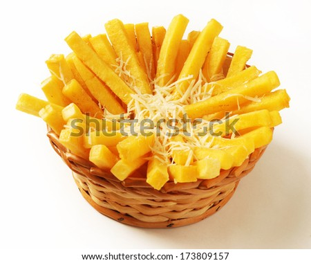 Fried polenta - stock photo
