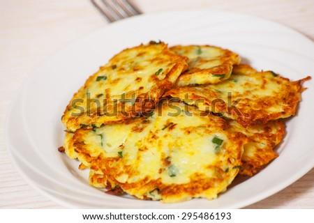 Fried potato pancake - stock photo