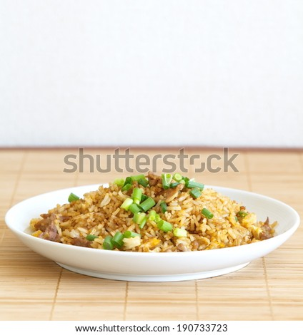fried rice an excellent side order with chinese food  - stock photo