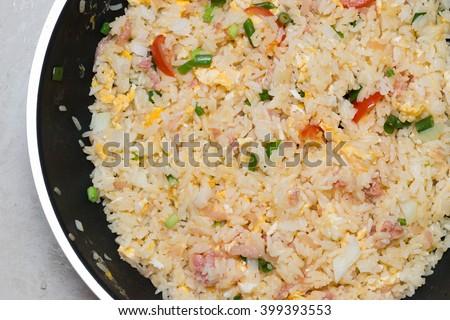 Fried rice Thai food - stock photo