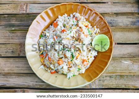 Fried rice thai style - stock photo