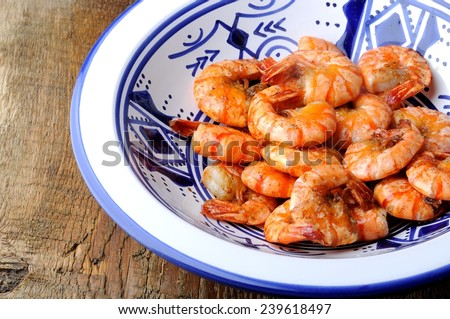 fried shrimps - stock photo