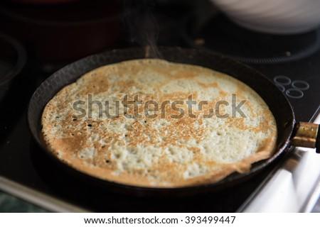 Fried tasty pancakes  - stock photo