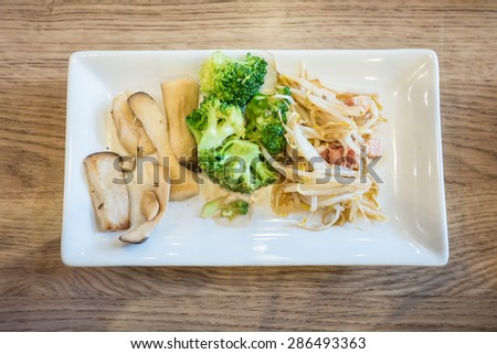 fried vegetables - stock photo