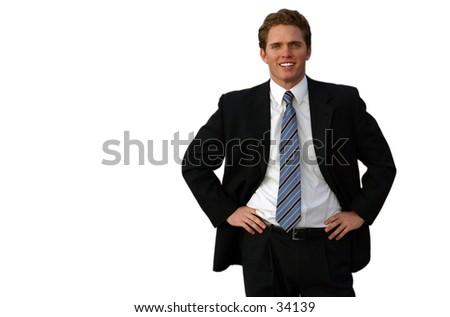 friendly business man - stock photo