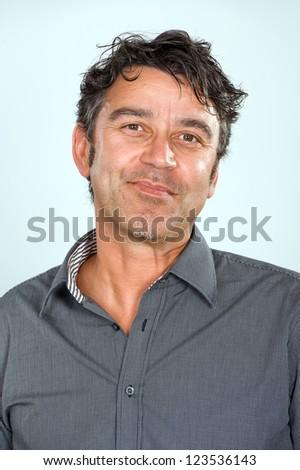 friendly man - stock photo