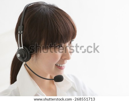 Friendly operator  - stock photo